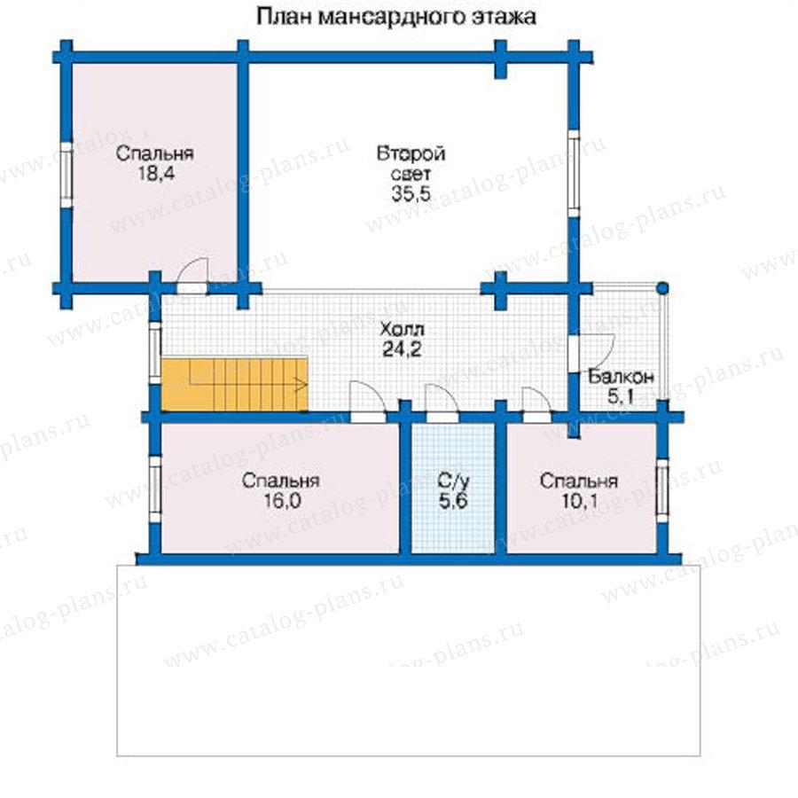 План 2-этажа проекта 12-52
