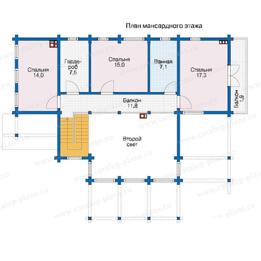 План 2-этажа проекта 12-44
