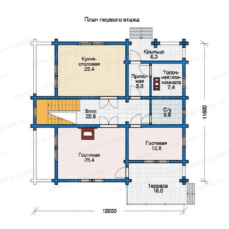 План 1-этажа проекта 12-28