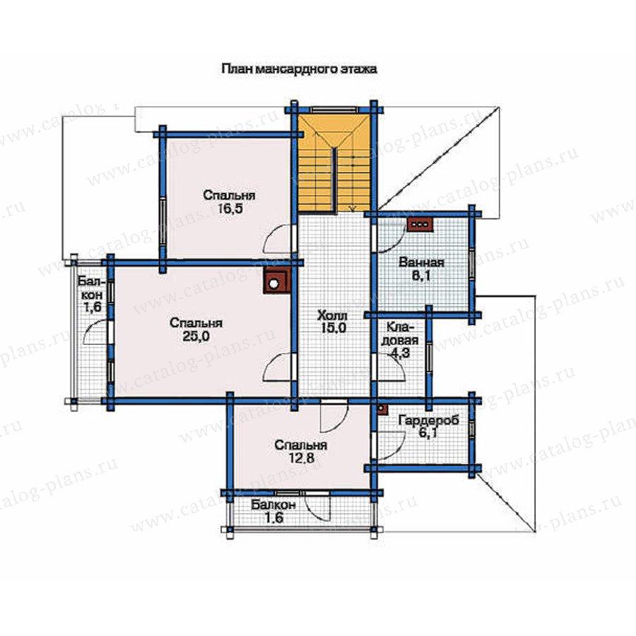 План 2-этажа проекта 11-80