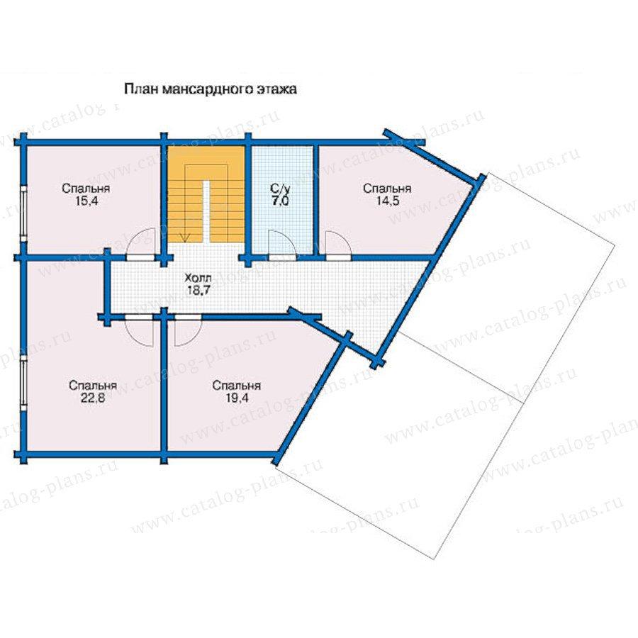 План 2-этажа проекта 12-54