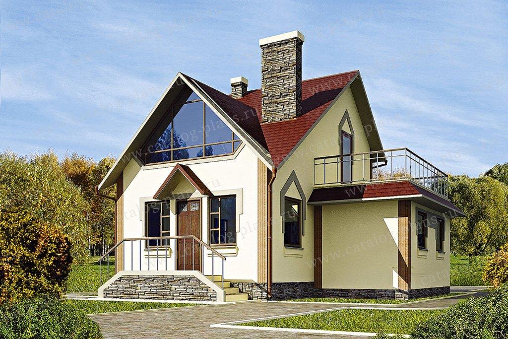 Проект жилой дом #11-25 материал - дерево, стиль готический