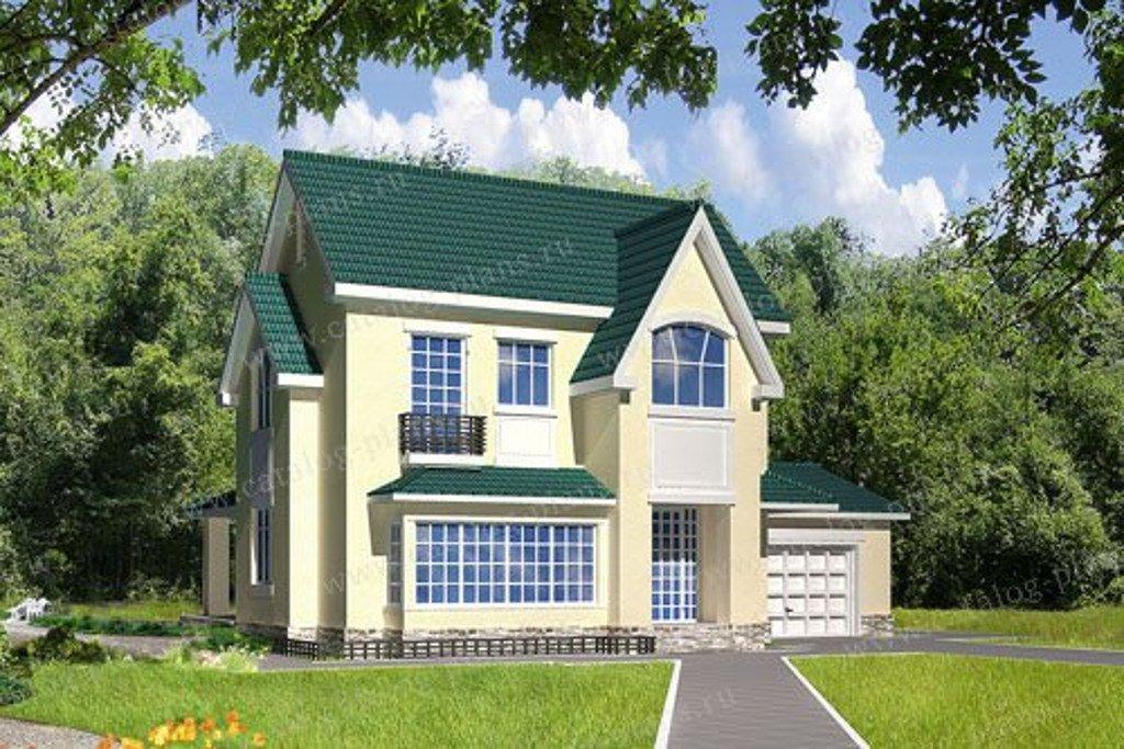 Проект жилой дом #31-76 материал - кирпич, стиль европейский