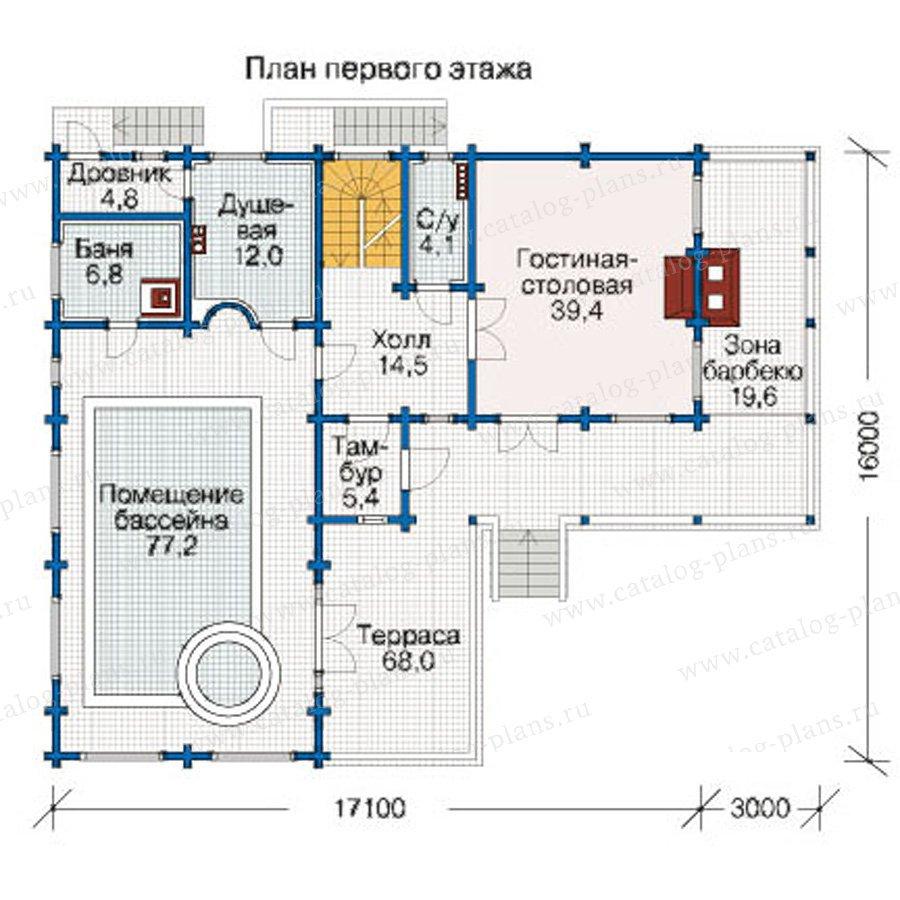 План 2-этажа проекта 12-40
