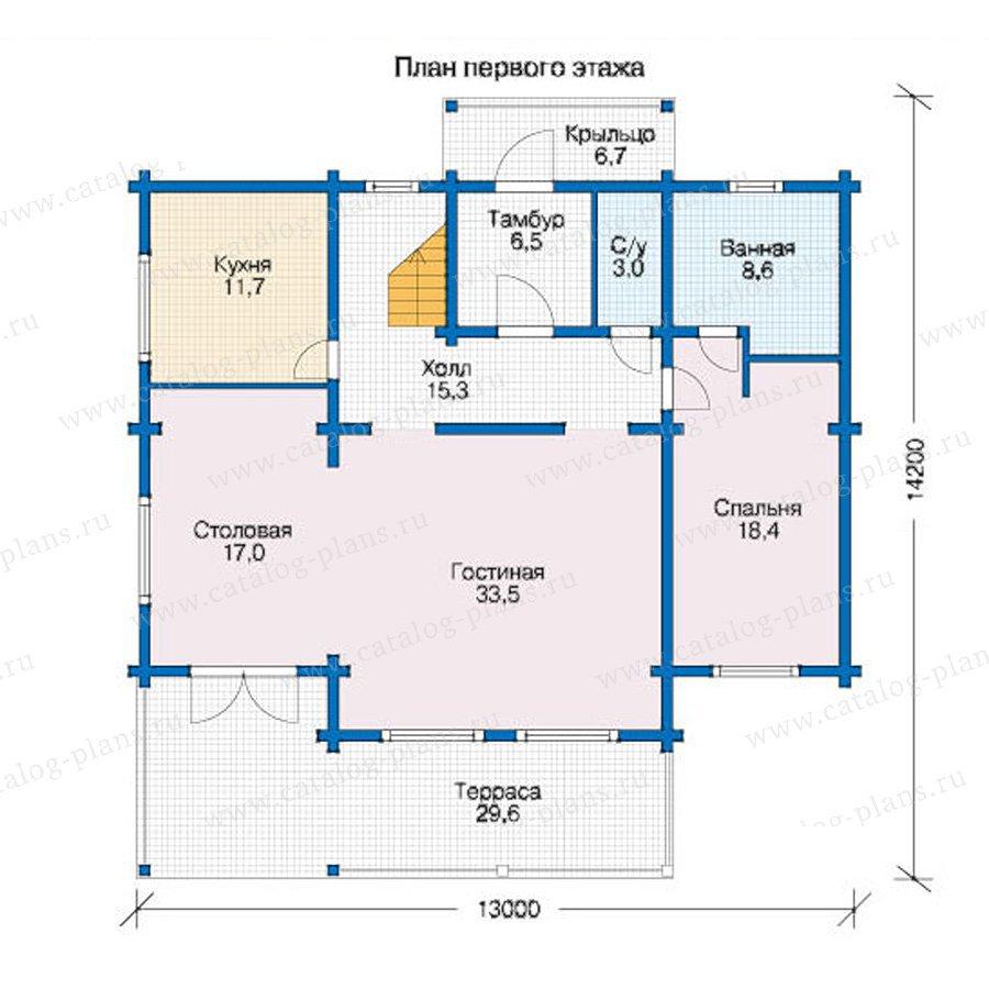 План 1-этажа проекта 12-53