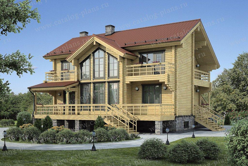 Проект жилой дом #11-99 материал - дерево, стиль скандинавский