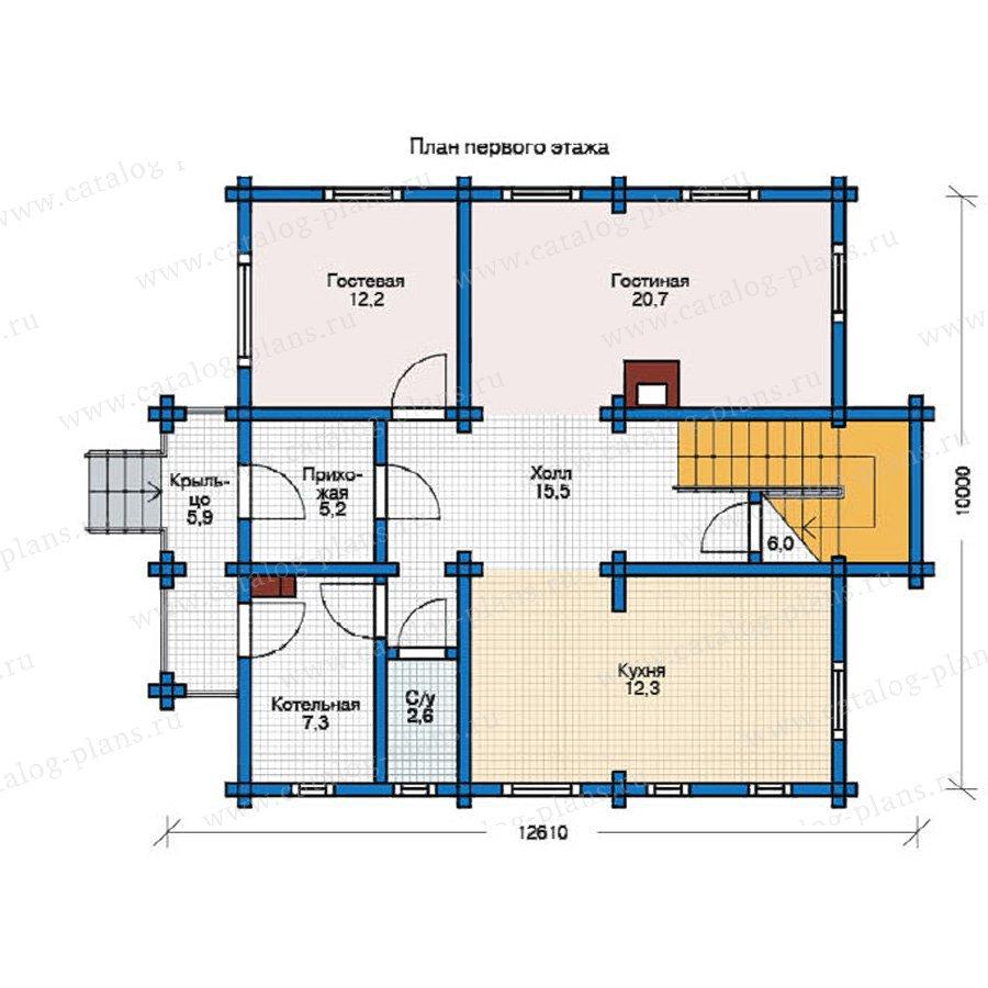 План 1-этажа проекта 12-34