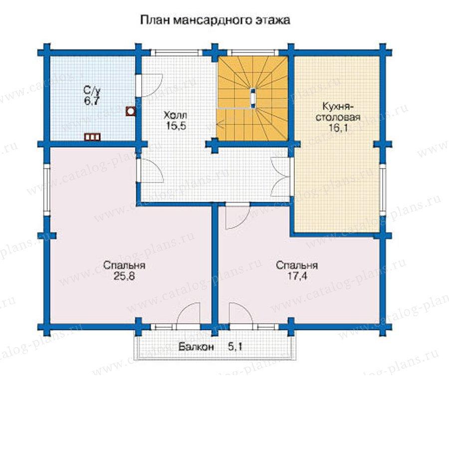 План 2-этажа проекта 12-58