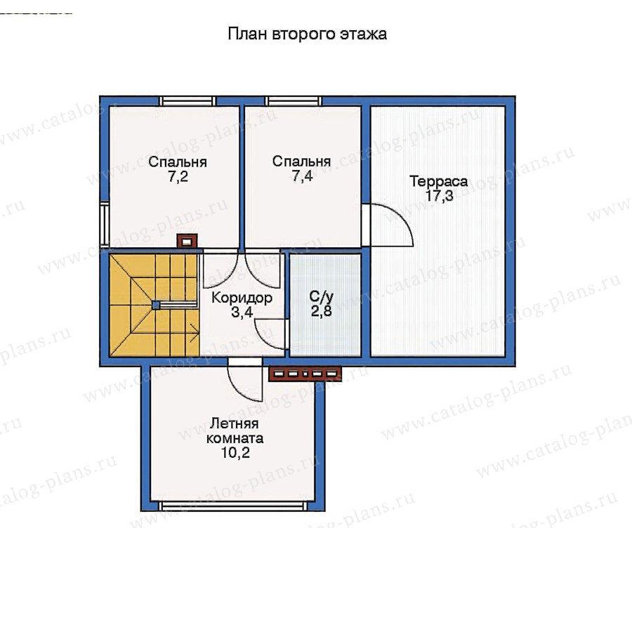 План 2-этажа проекта 11-25
