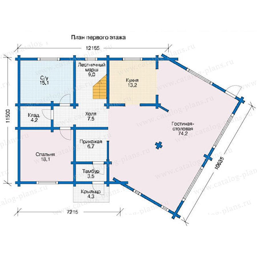 План 1-этажа проекта 12-54