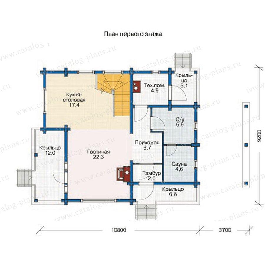 План 1-этажа проекта 11-89