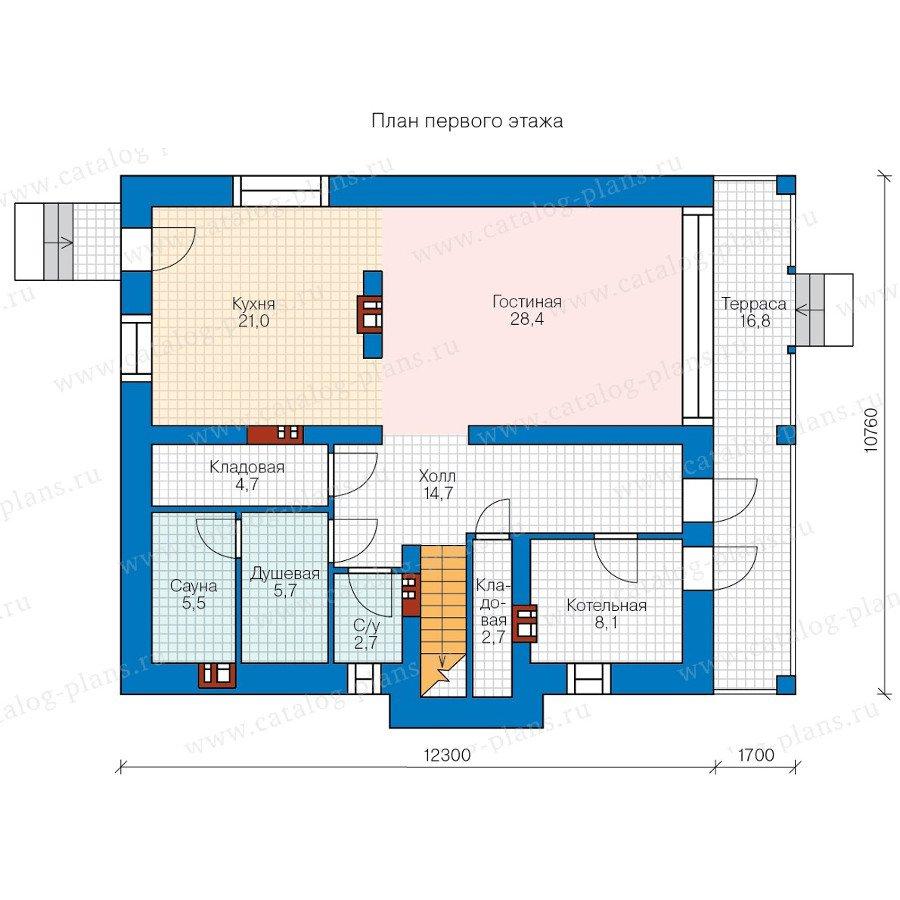 План 1-этажа проекта 40-31