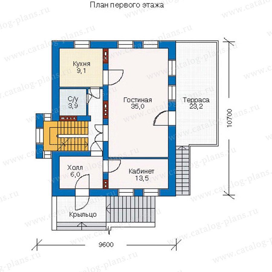 План 2-этажа проекта 51-34