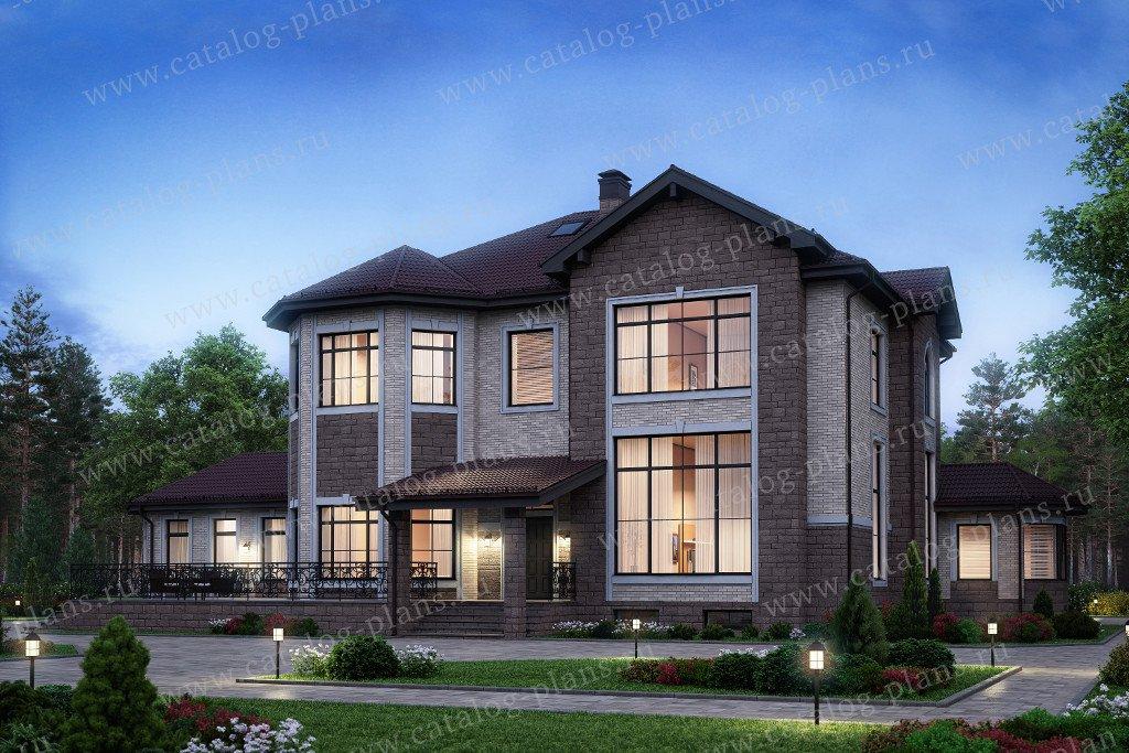 Проект четырехэтажного кирпичного дома с мансардой № 40-38 в европейском стиле