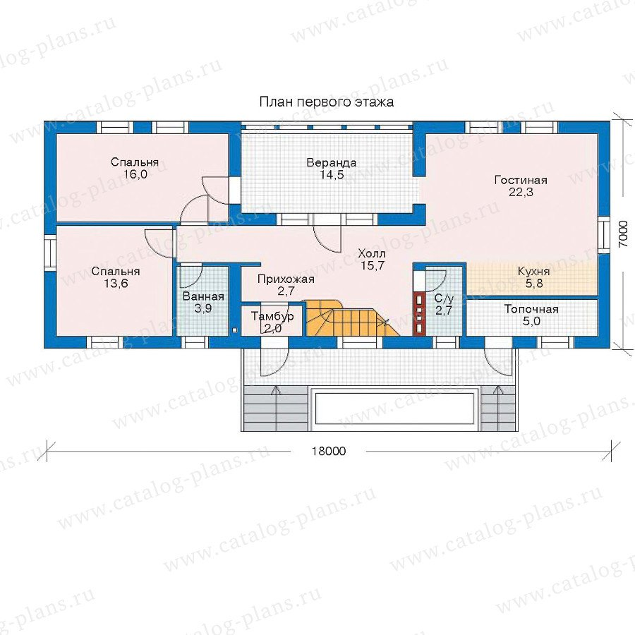 План 1-этажа проекта 52-50