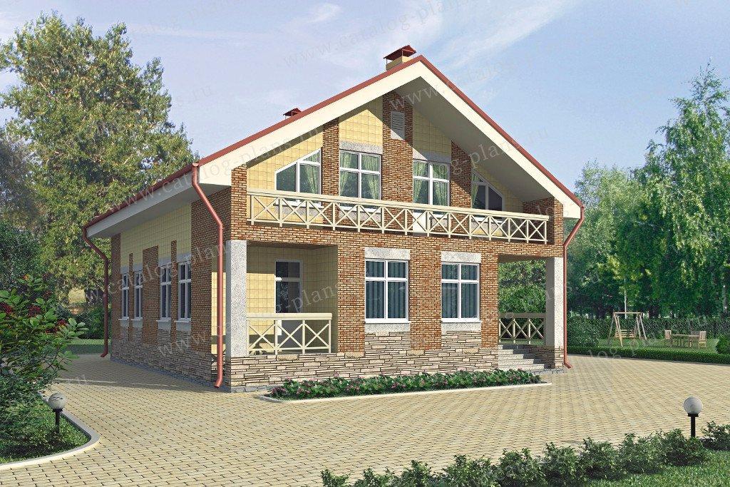 Проект жилой дом #52-51 материал - газобетон, стиль европейский