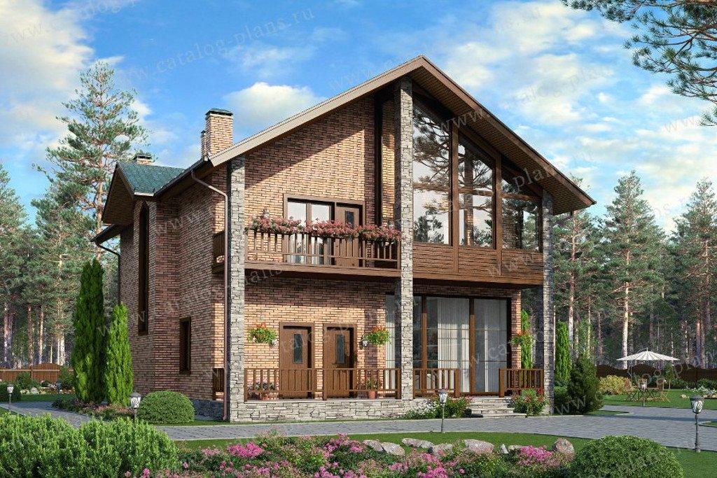 Проект жилой дом #40-31G материал - газобетон, стиль современный