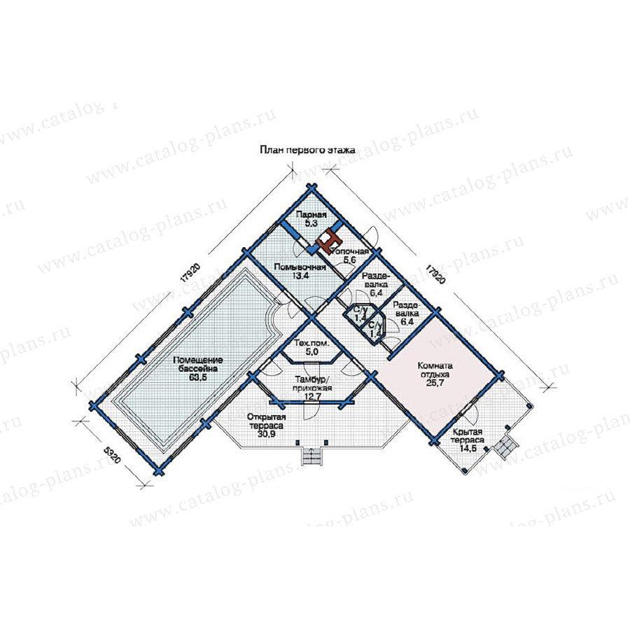 План 1-этажа проекта 11-93