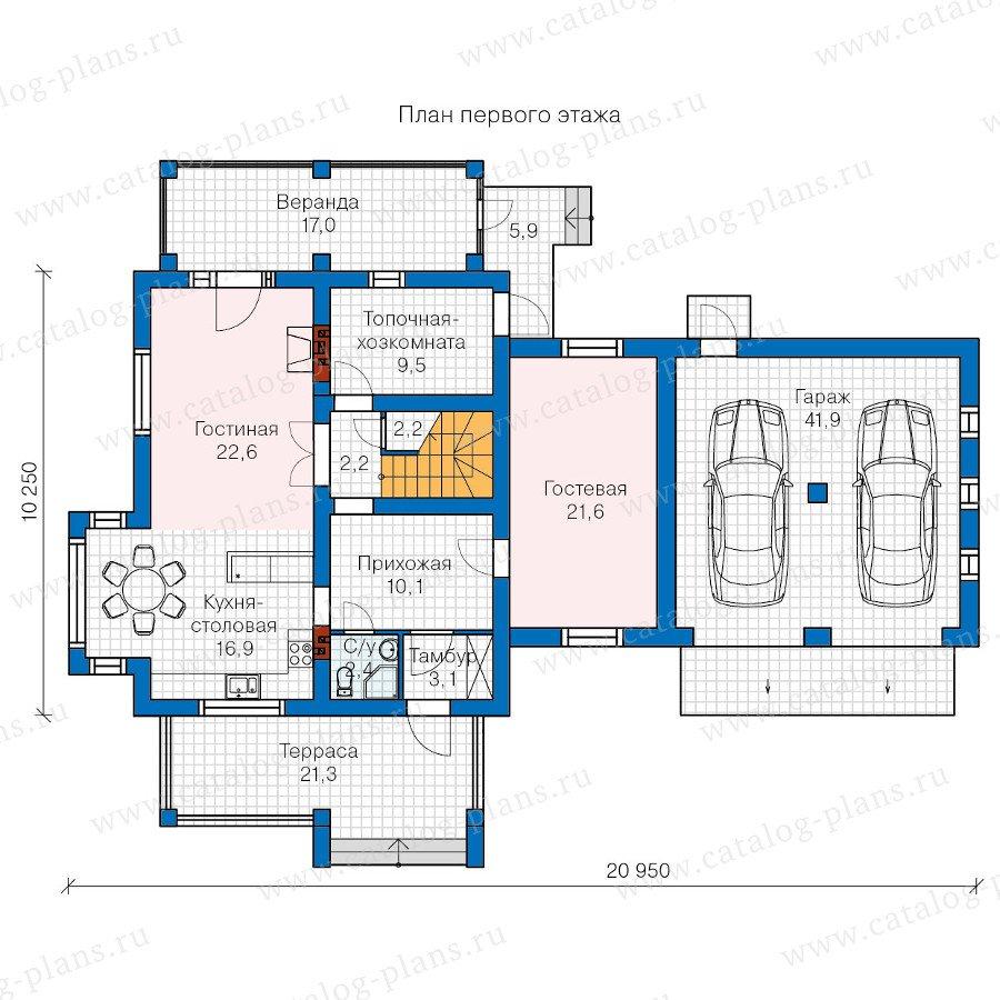План 1-этажа проекта 60-07