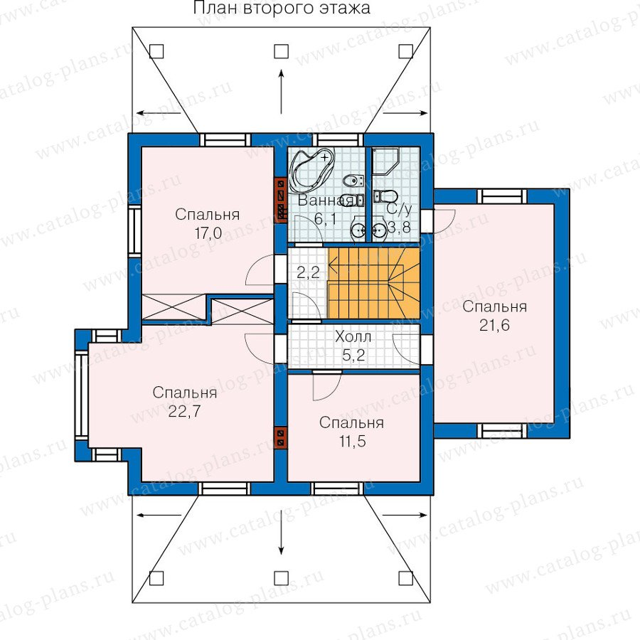 План 2-этажа проекта 60-07
