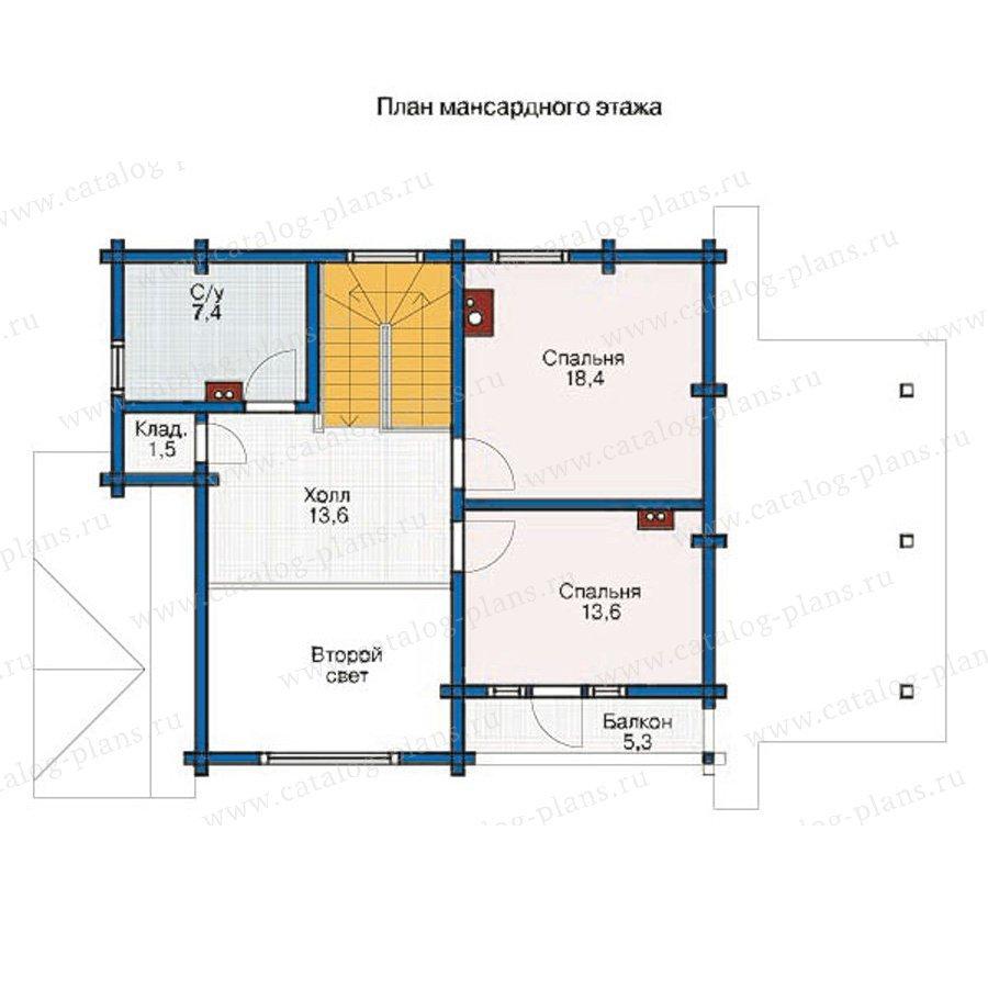 План 2-этажа проекта 11-89