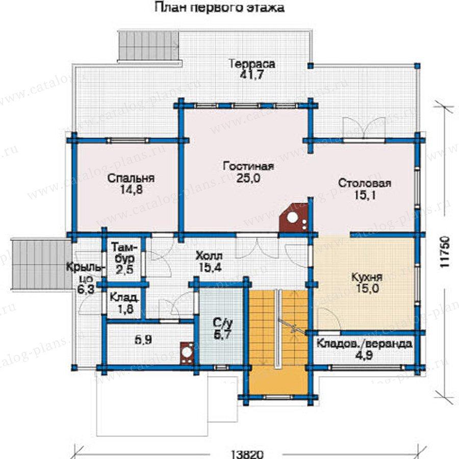 План 2-этажа проекта 11-99