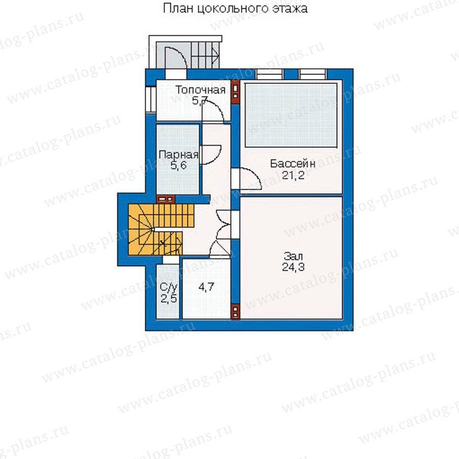 План 1-этажа проекта 51-34