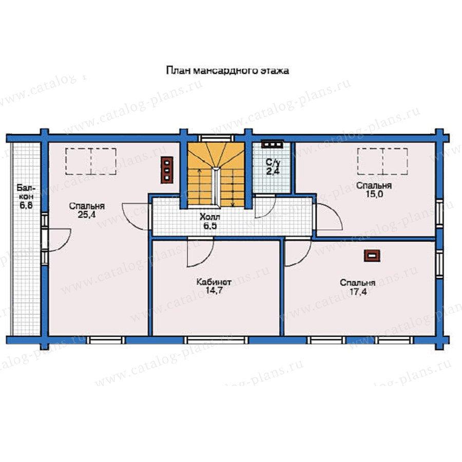 План 2-этажа проекта 11-92