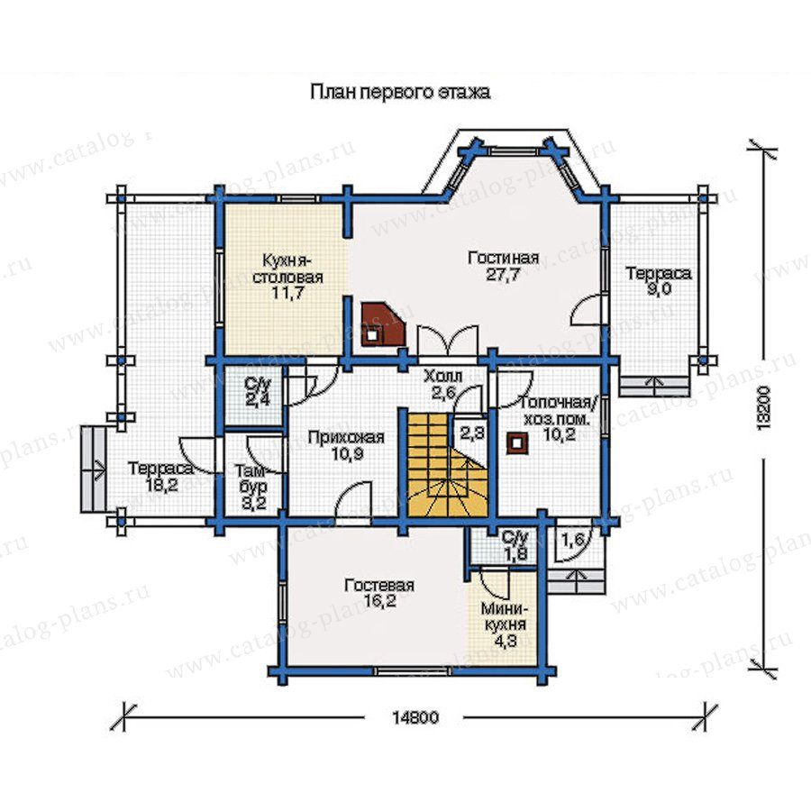 План 1-этажа проекта 11-91