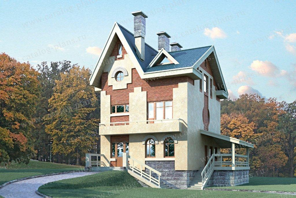 Проект жилой дом #51-34 материал - газобетон, стиль английский