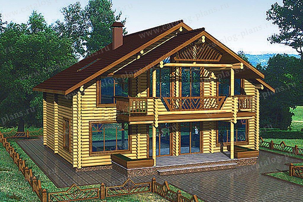 Проект жилой дом #10-99 материал - дерево, стиль современный