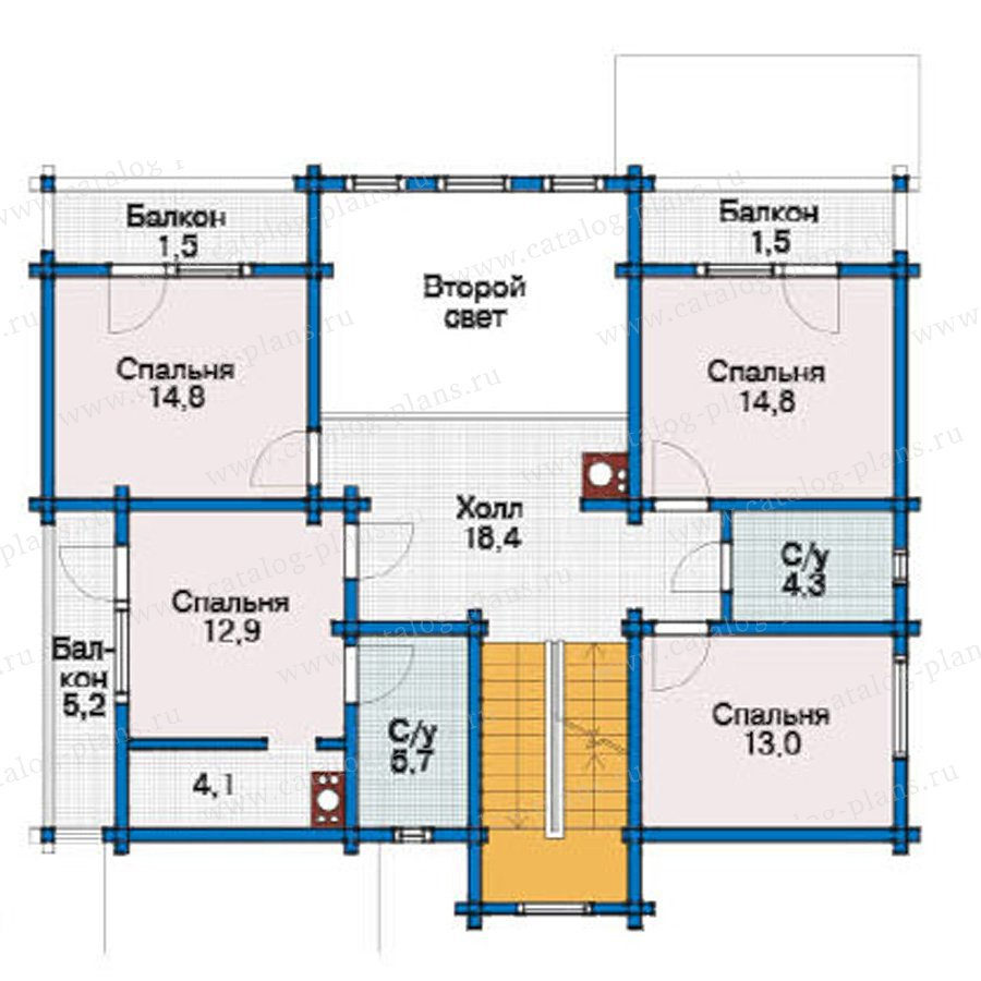 План 3-этажа проекта 11-99
