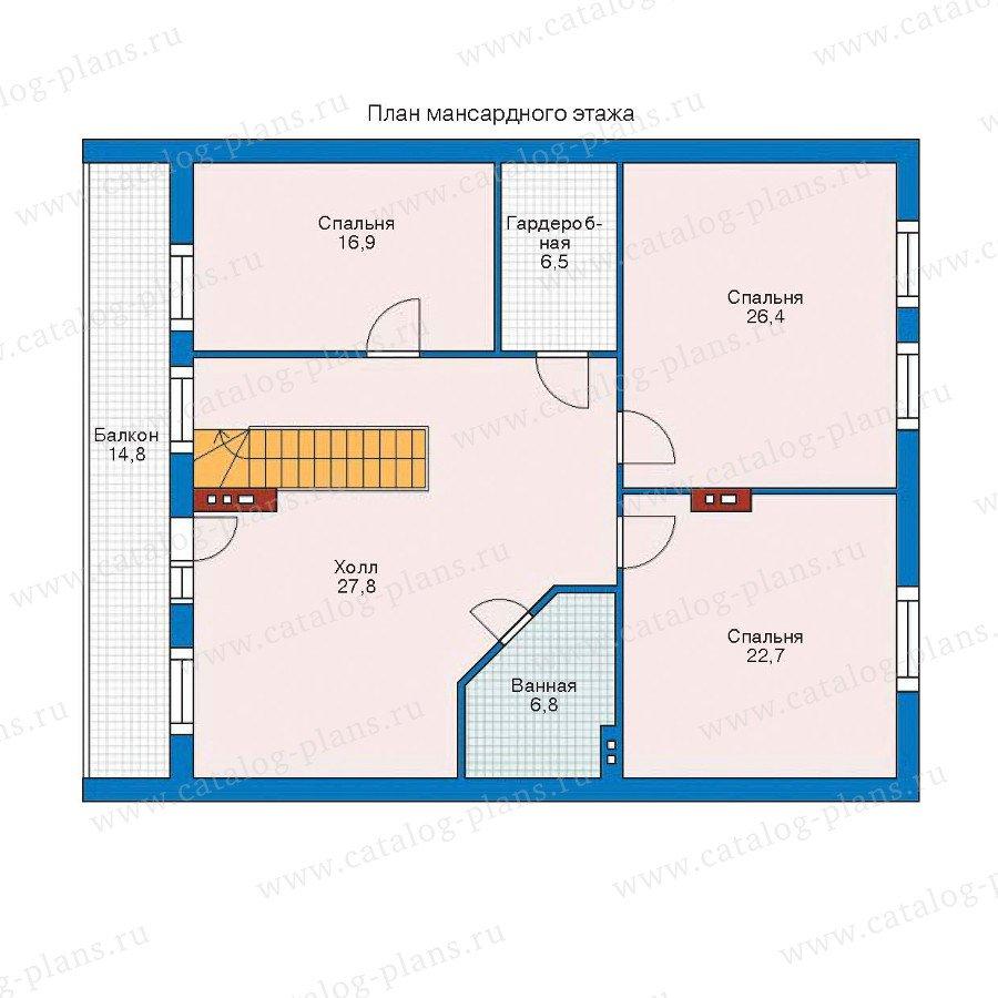 План 2-этажа проекта 52-51