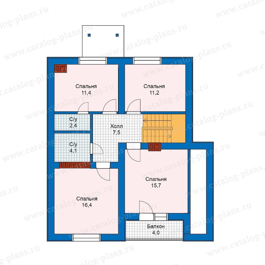 План 2-этажа проекта 59-97A