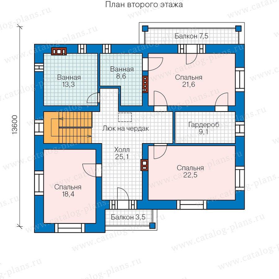 План 3-этажа проекта 59-95C