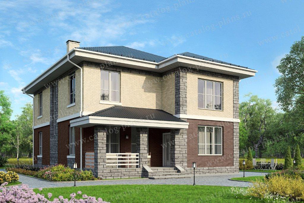 Проект жилой дом #57-62 материал - газобетон, стиль европейский
