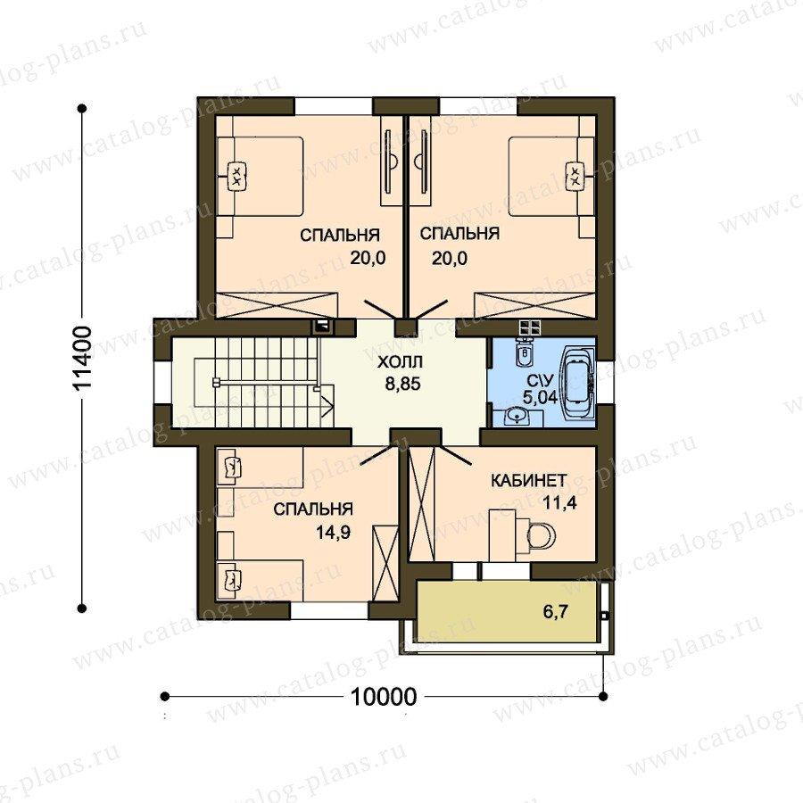 План 2-этажа проекта 59-35A