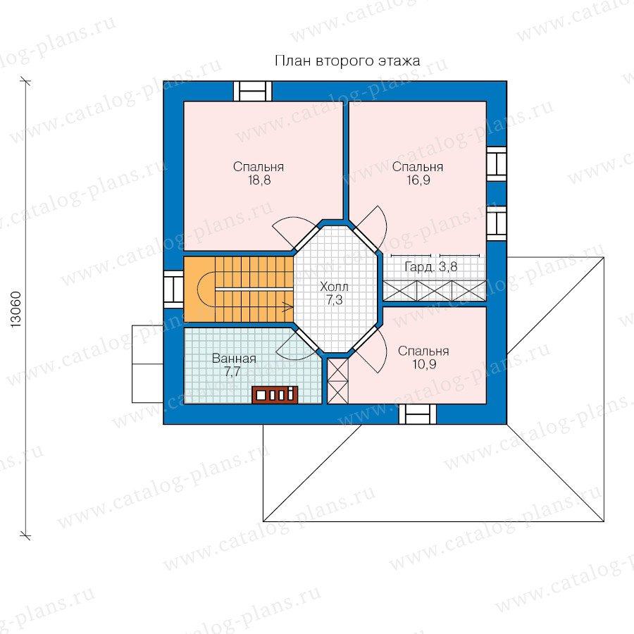 План 2-этажа проекта 59-13