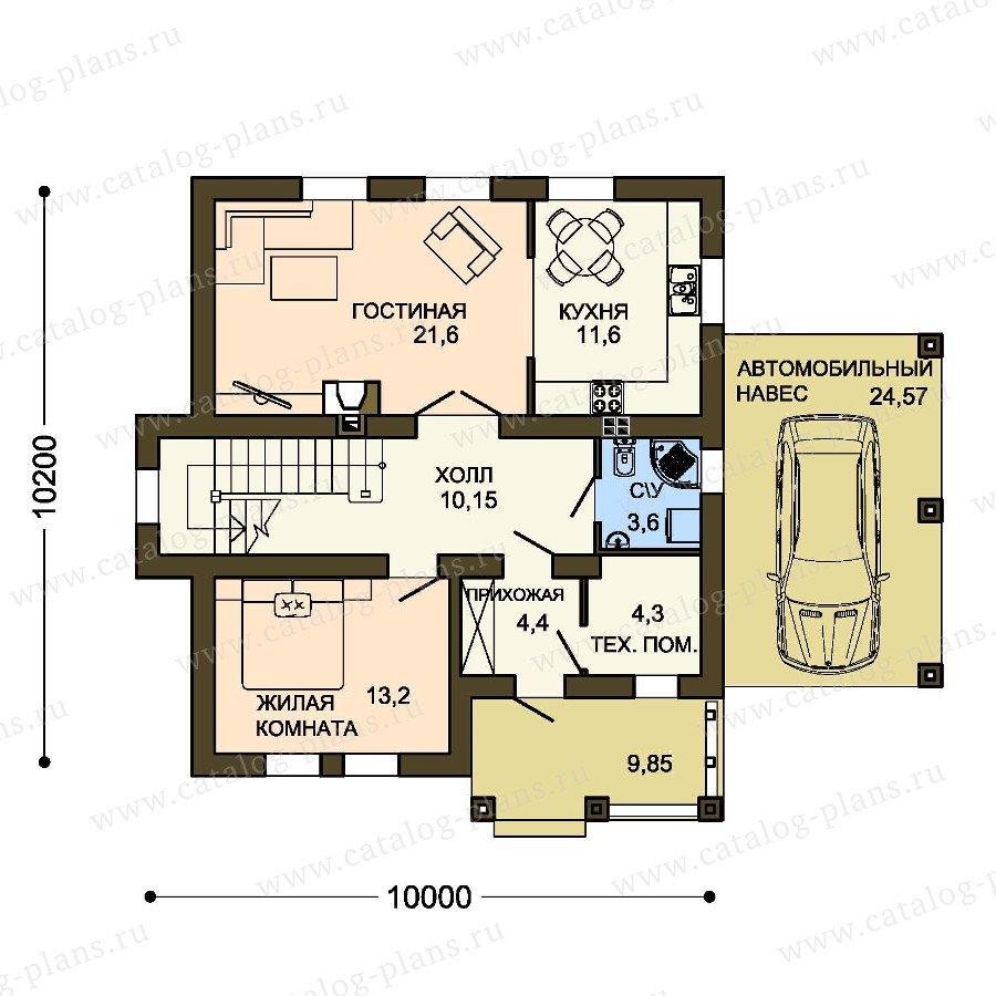 План 1-этажа проекта 59-35C