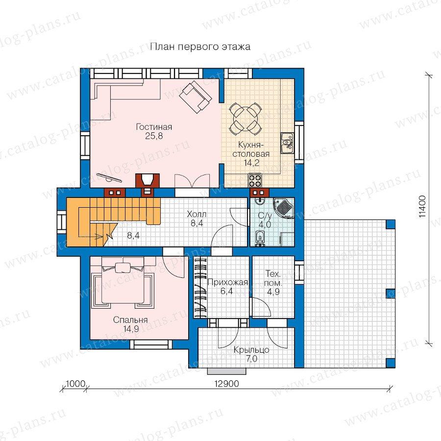 План 1-этажа проекта 59-35B