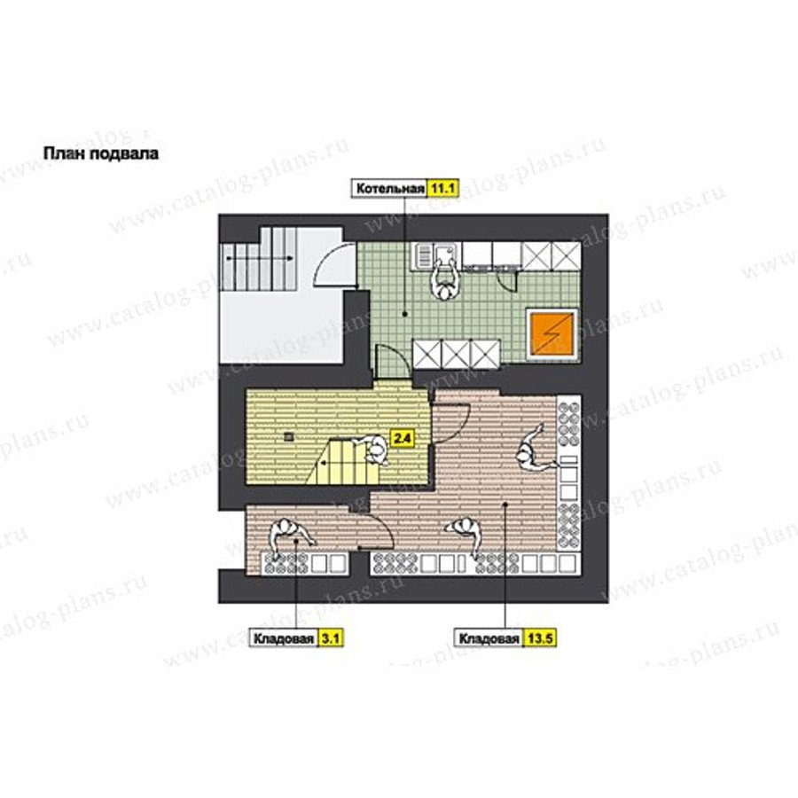 План 1-этажа проекта 59-66A