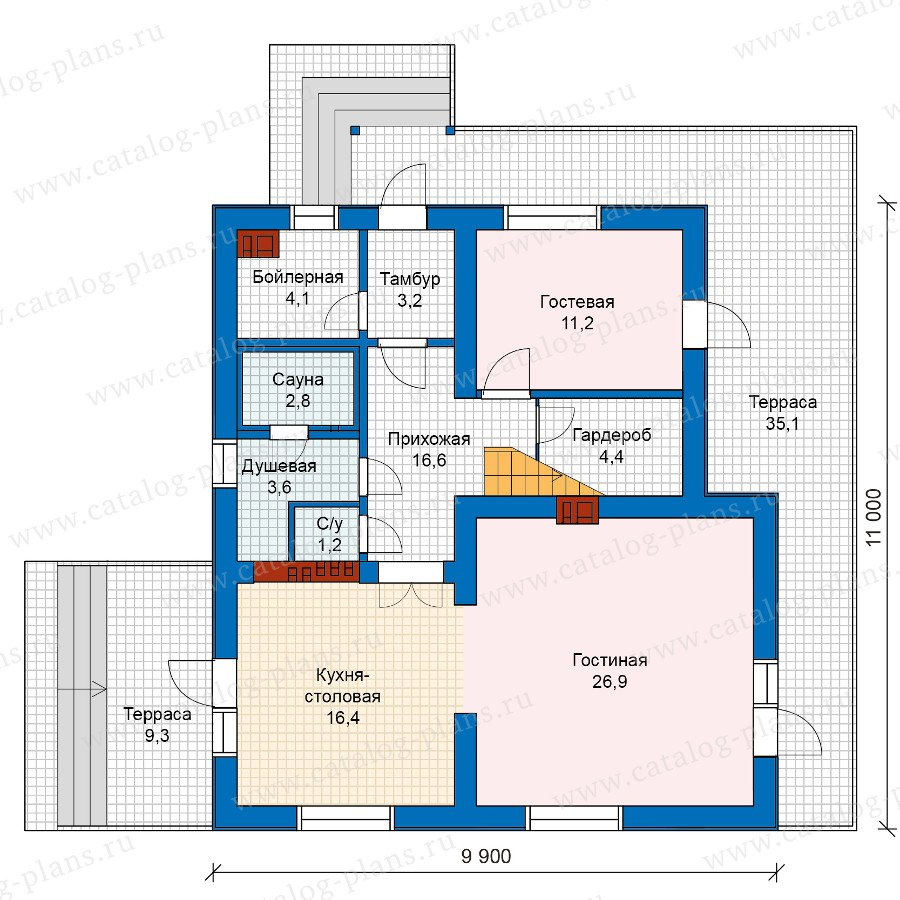 План 1-этажа проекта 59-97A