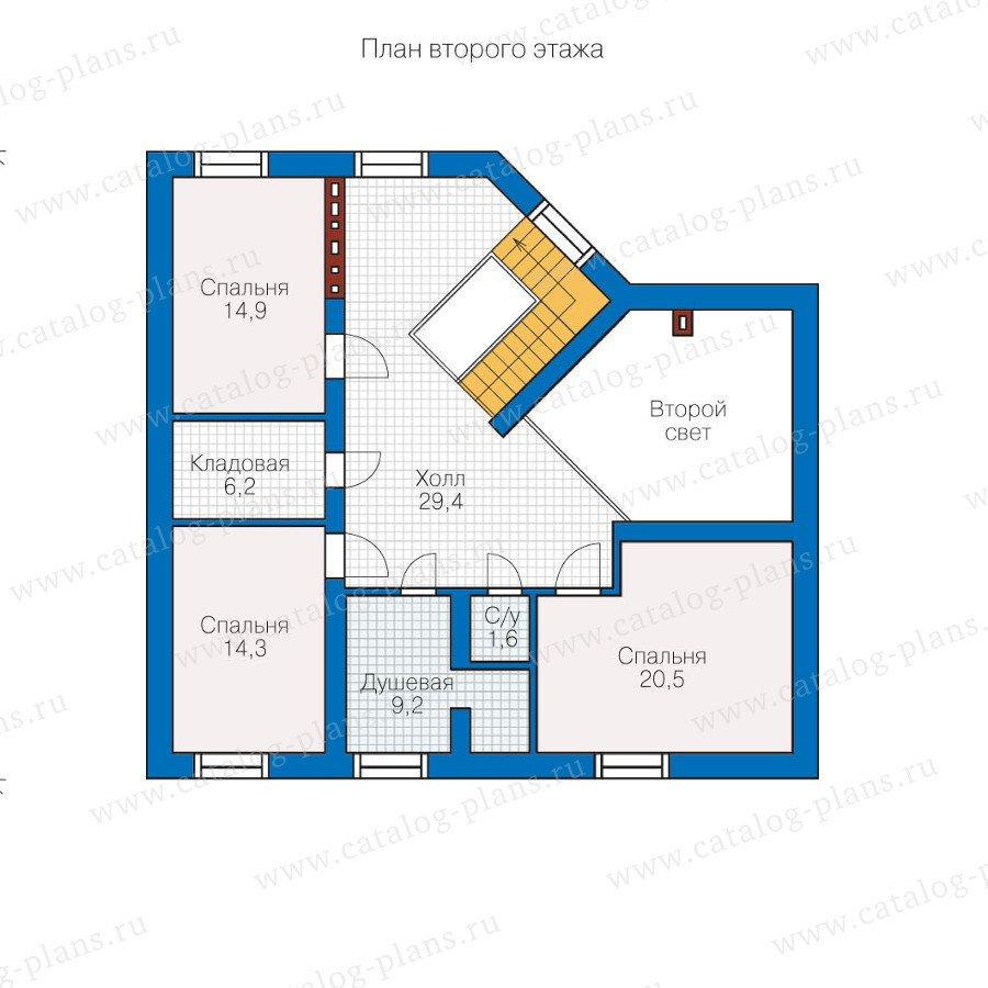План 2-этажа проекта 60-04