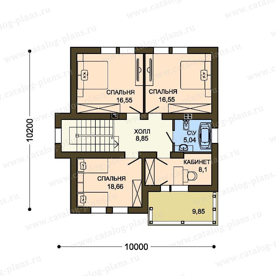 План 2-этажа проекта 59-35C