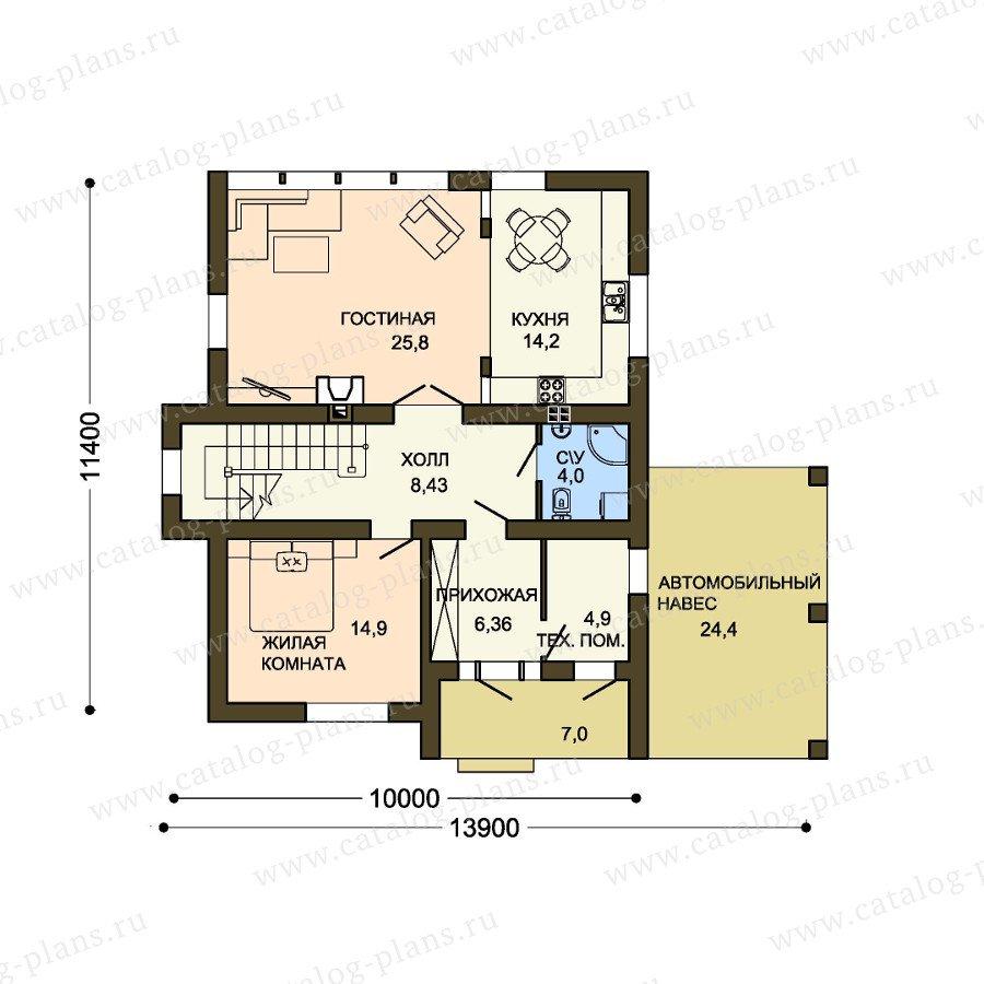 План 1-этажа проекта 59-35A