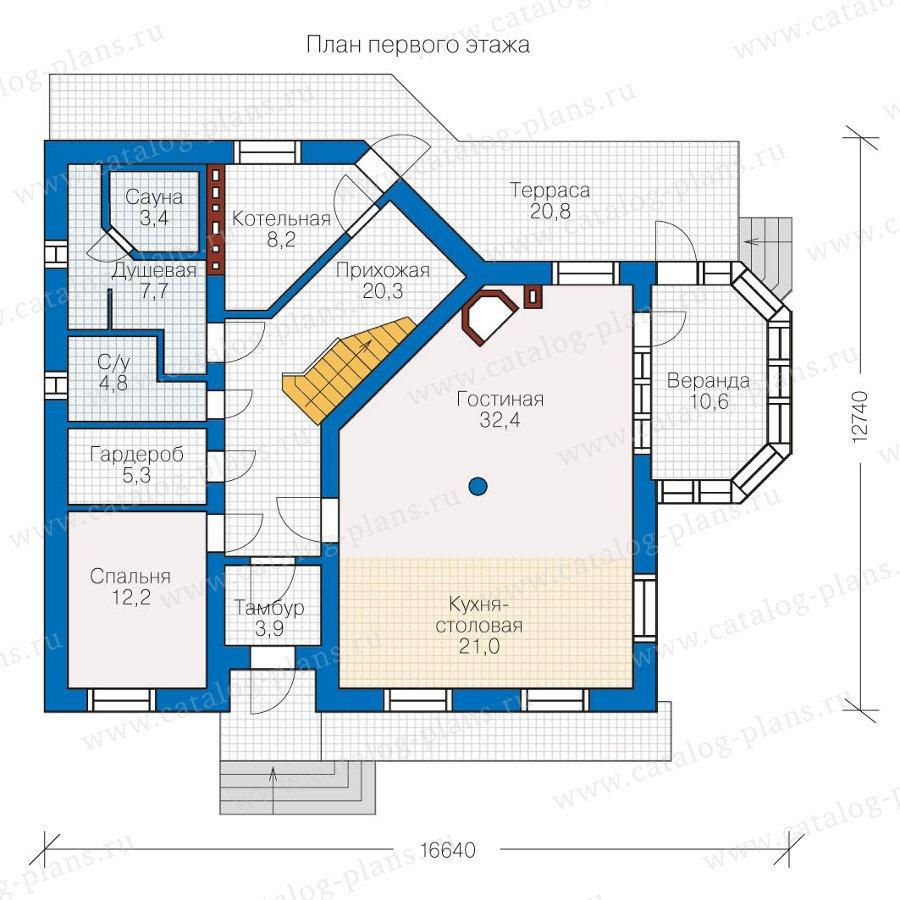 План 1-этажа проекта 60-04
