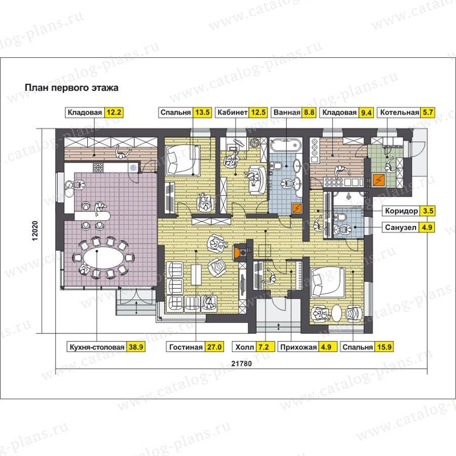 План 1-этажа проекта 59-22A