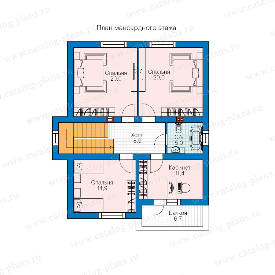 План 2-этажа проекта 59-35B