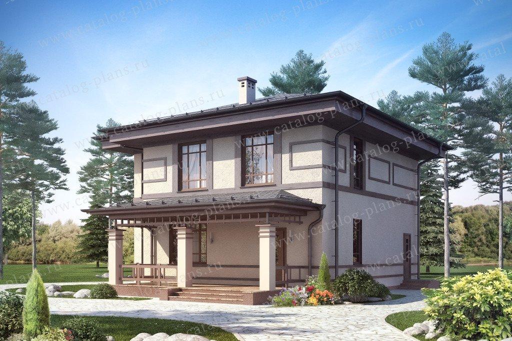 Проект жилой дом #60-06 материал - газобетон, стиль модерн