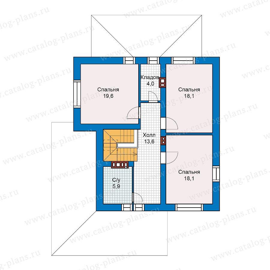 План 2-этажа проекта 59-62L
